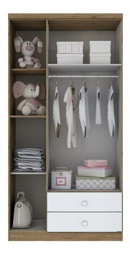 quarto infantil com guarda roupa 3 portas, cômoda e ie