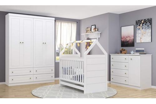 quarto infantil com guarda roupa 4 portas 1 cômoda e bg