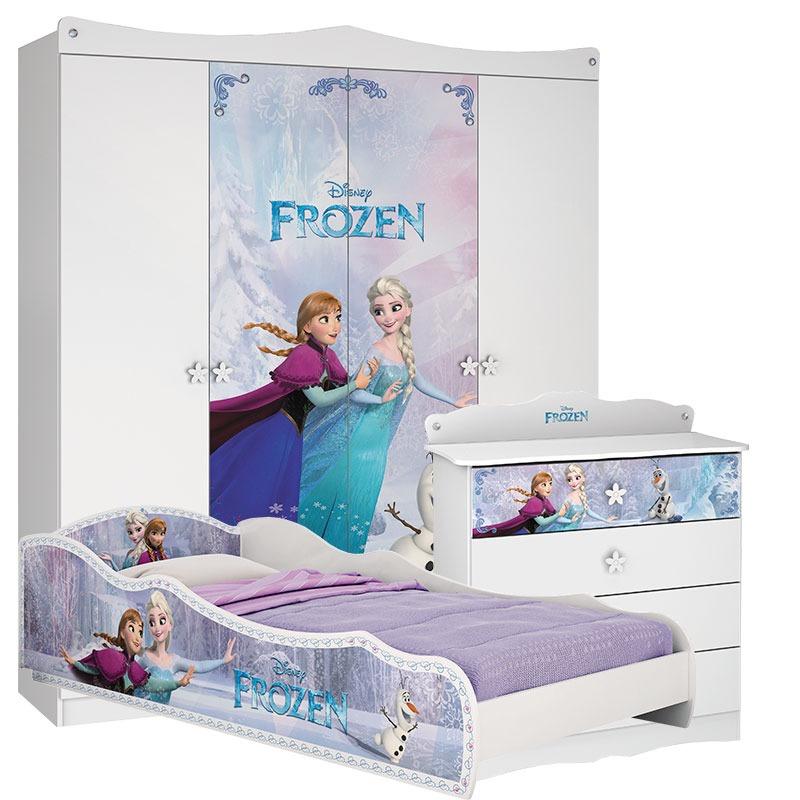 53bea333a8 quarto infantil frozen star com cama plus - pura magia. Carregando zoom.
