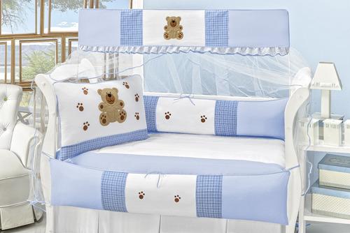 quarto para criança completo capricho 8 peças 100% algodão
