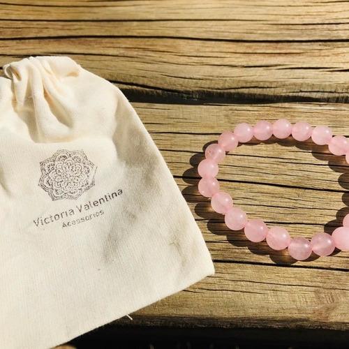 quartzo rosa pulseira pedra natural 8mm