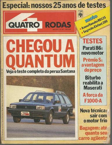 quatro rodas 301 especial lançamento santana quantum 1985