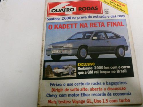 quatro rodas junho 1988 kadett voyage gl uno 1.5 turbo