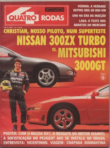 quatro rodas nº382 nissan 300zx turbo mitsubishi 3000gt lada