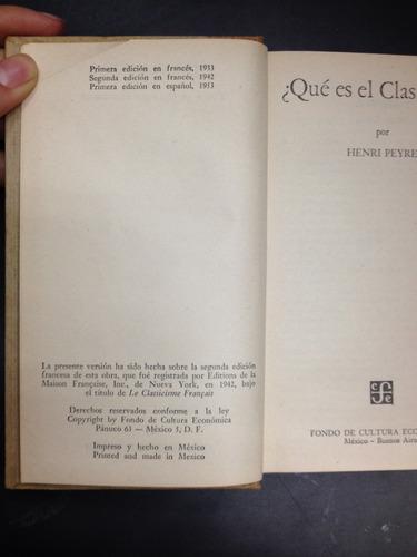 qué es el clasicismo? henry peyre fondo de cultura economica