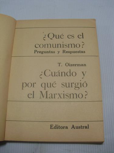 que es el comunismo. t oizerman