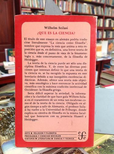¿qué es la ciencia? wilhelm szilasi. breviario.
