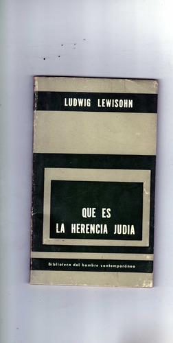 que es la herencia judia   ludwig lewisohn