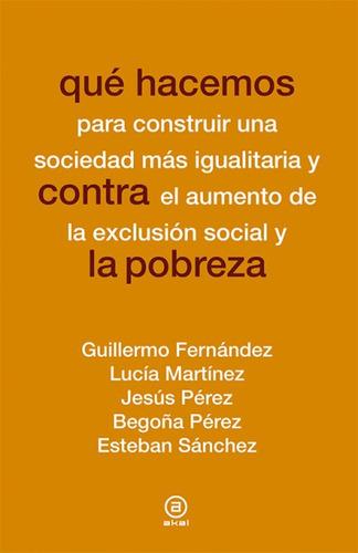 qué hacemos contra la pobreza(libro sociología)