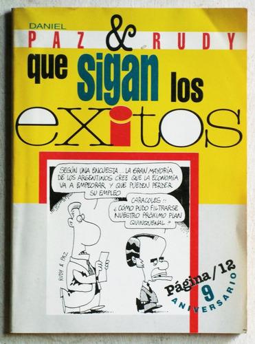 que sigan los éxitos / paz y rudy (ed página 12 1996)