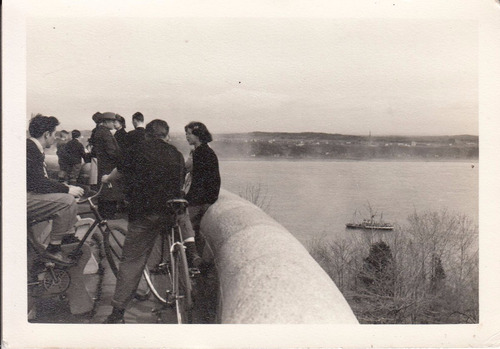 quebec antigua fotografia bicicletas rio personas vista