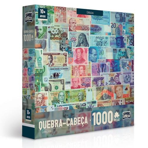 quebra-cabeça - 1000 peças - coleções - cédulas - toyster