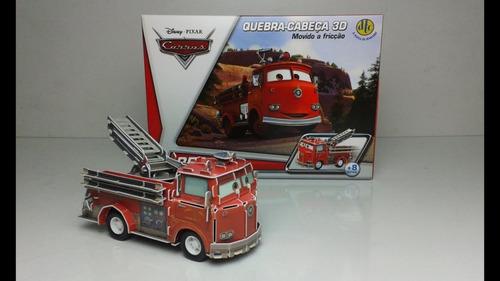 quebra cabeça 3d carros red movido a fricção dtc