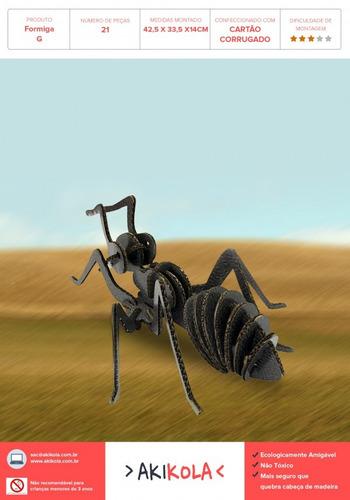 quebra cabeça 3d - formiga - tamanho gigante