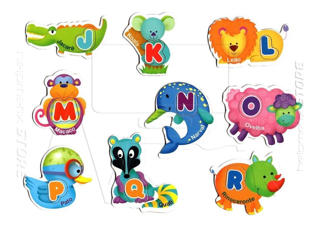 Quebra Cabeca Alfabeto Animais Abc Bicho 52 Letras Educativo R