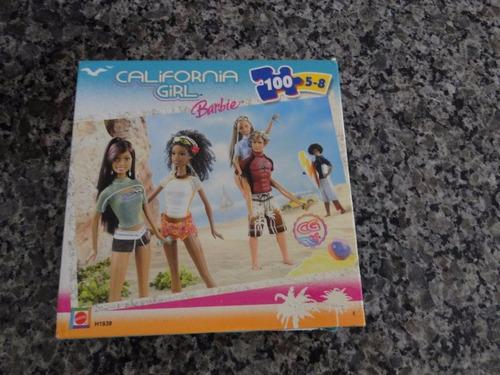 quebra cabeça barbie california girl - 100 pçs
