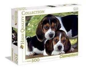 quebra cabeça clementoni 500 peças beagle puzzle