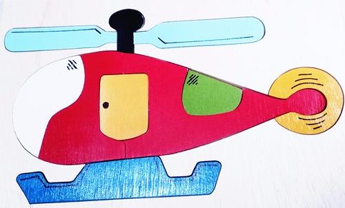 quebra cabeça helicóptero colorido