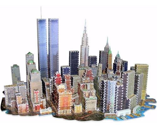 quebra cabeça - new york 3d - 3141 peças
