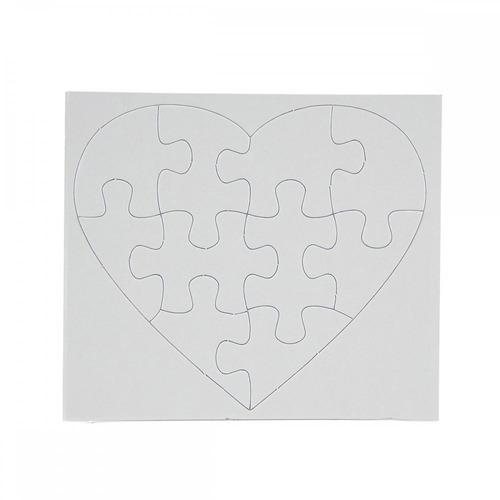 quebra cabeça para sublimação resinado coração 10 peças 50un