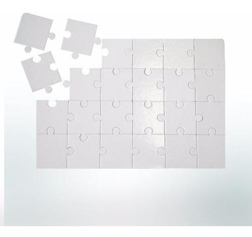 quebra-cabeça p/sublimação c/35 pcs 100 unidades. resinado!