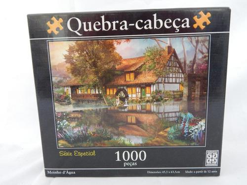 quebra cabeça - puzzle - moinho d'água - grow - 1000 pçs