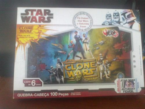 quebra-cabeça - star wars the clone wars 100 pecas