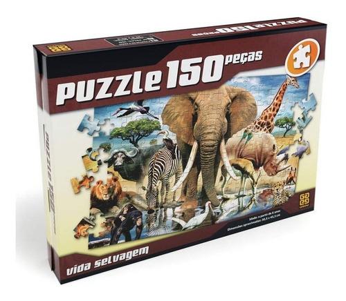 quebra-cabeça - vida selvagem - 150 peças - grow