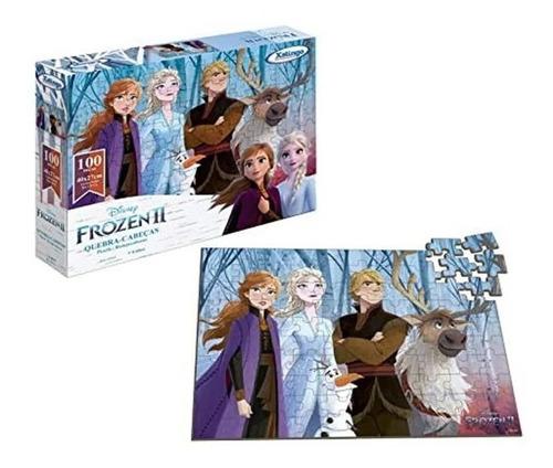 quebra-cabeças 100 peças frozen 2 disney original