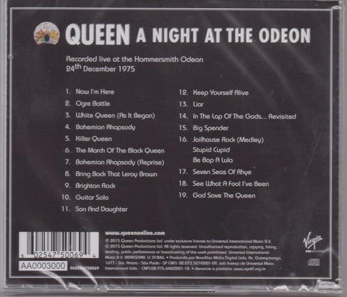 queen - a night at the odeon   cd original novo lacrado