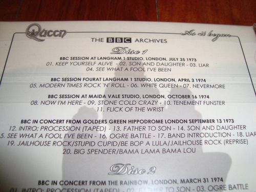 queen as it began the bbc archives 2cds importados