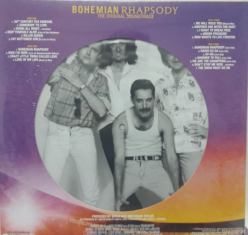 queen bohemian rhapsody picture disc deluxe vinilo 2 lp