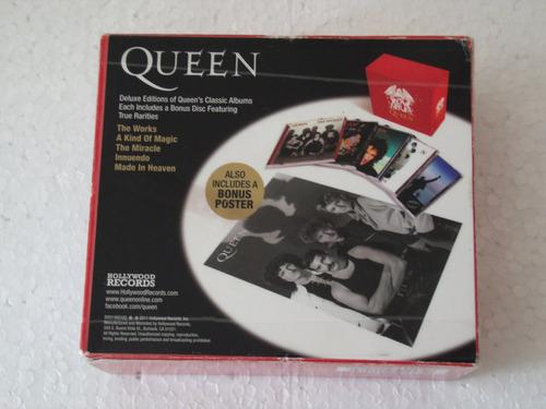 queen - box com 05 cds duplos c/ poster - importado