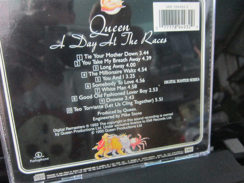 queen, cd a day at the races, emi-1975
