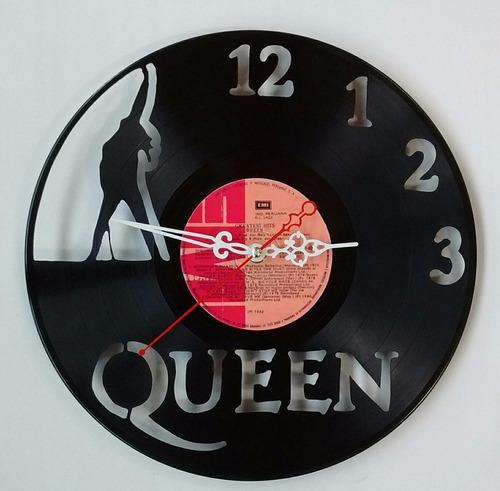 queen disco de vinilo reloj  arte  decoracion