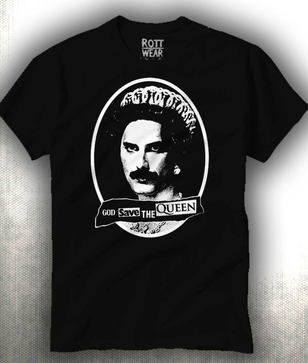 Queen Freddie Mercury God Save The Queen Playera Rott Wear