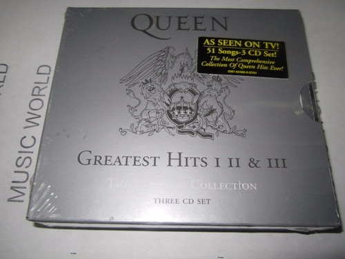 queen greatest hits 1, 2 ,3 the platinum collection.3cds