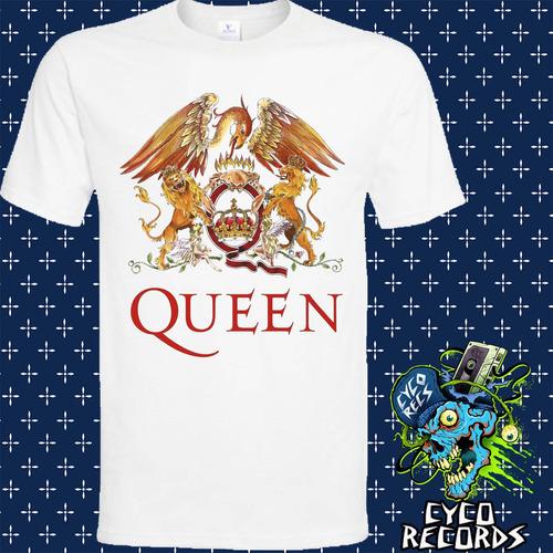 queen logo - blanca - rock - polera- cyco records