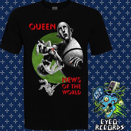 queen news of the world  - rock - polera- cyco records