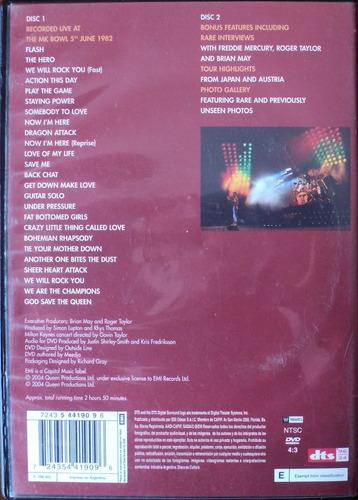 queen on fire set de 2 dvd impecable