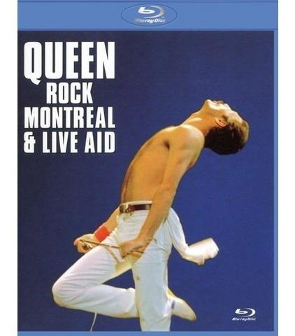 queen  rock montreal & live aid blu ray importado nuevo