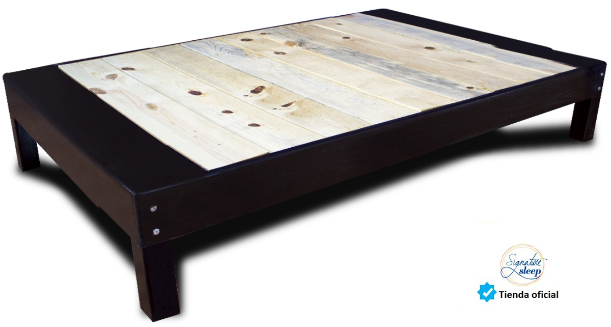 Queen size base cama tipo box para recamara cama en madera for Tipos de camas queen
