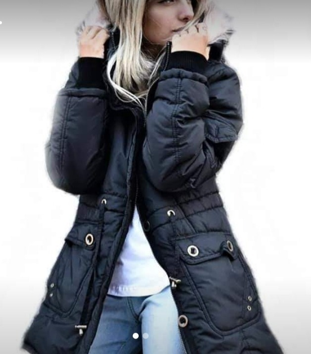 parka impermeable capucha mujer