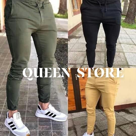 minorista online 6dff7 dad3d Queen Store Pantalones De Hombre Joggers Gabardina Elastizada Premium  Chupin Jeans Detalles Unicos Botapié Con Elástico