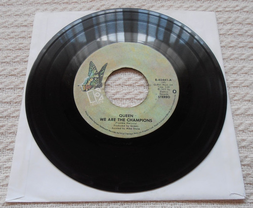 queen - we are the champions (single 7'' 1ra. ed u s a 1977)