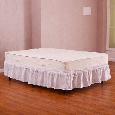 queen\king blanco tamaño cama elástica envoltura volantes...