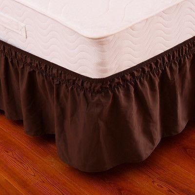 queen\king café tamaño cama elástica envoltura volantes...