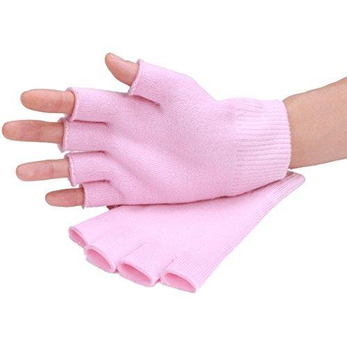 queentools soft gel de algodón guantes half fingers hidrata