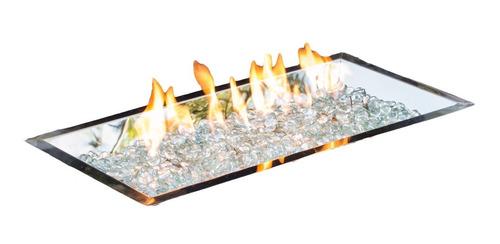 quemador 12x42 para chimenea de exterior