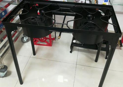 quemador a gas, en hierro, potente, cocina, pailas, catering